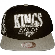 Casquette Snapback Mitchell & Ness - NHL Laser Stitch - Los Angeles Kings