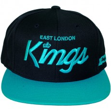 Casquette Snapback King Apparel x Starter - East London Kings - Navy/Turquoise