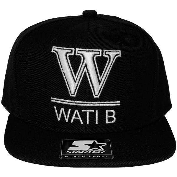 casquette snapback wati b x starter wati b logo black. Black Bedroom Furniture Sets. Home Design Ideas