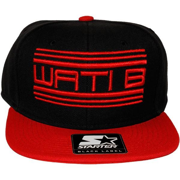 casquette snapback wati b x starter wati b logo black red. Black Bedroom Furniture Sets. Home Design Ideas
