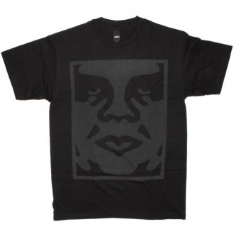 OBEY Basic T-Shirt - Dot Face - Black