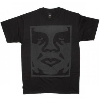 OBEY Basic T-Shirt - Dot Face - Black