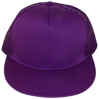 Casquette Filet Yupoong - Unie violette