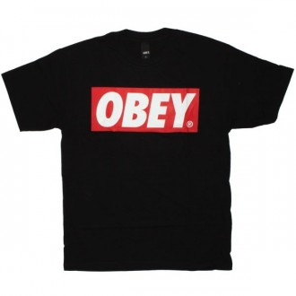 OBEY Basic T-Shirt - Obey Bar Logo - Black