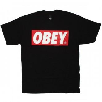 OBEY Basic T-Shirt - Obey Bar Logo - Black