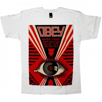 OBEY Basic T-Shirt - Never trust your own eye - White