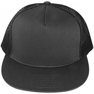 Casquette Filet Yupoong - Unie grise