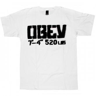 OBEY T-shirt - 7'4'' ''520 LBS Stencil'' - White