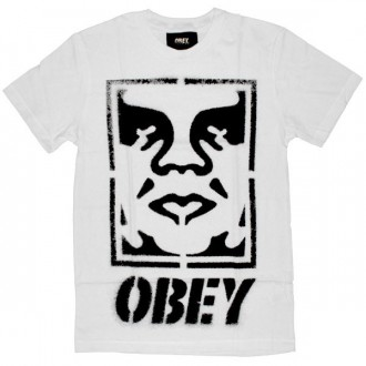 OBEY T-shirt - Icon Face Stencil - White