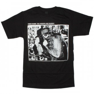 OBEY T-shirt - The Streets Are Talking - Black