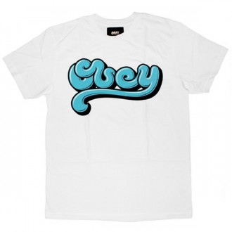 OBEY T-shirt - Toothpaste Script - White
