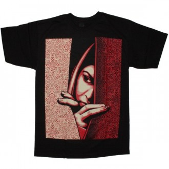 OBEY Basic T-Shirt - Palestinian Woman - Black
