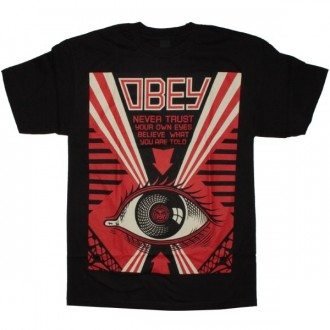 OBEY Basic Fleece - Never Trust Your Own - Black