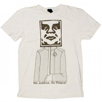 OBEY Antiques T-Shirt - No Justice, No Peace - Scour