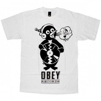 OBEY Basic T-Shirt - Obey Penguin - White