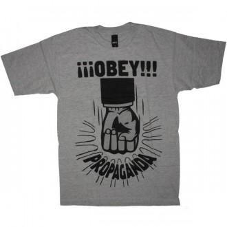 OBEY Basic T-Shirt - Propaganda Fist - Heath