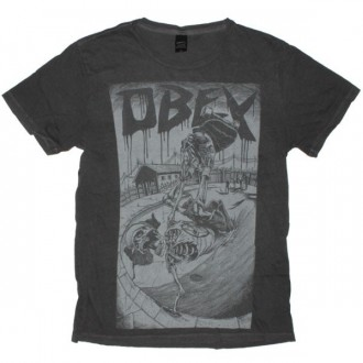 OBEY Light Weight Pigment Tee - Possessed to skate - Dusty Black