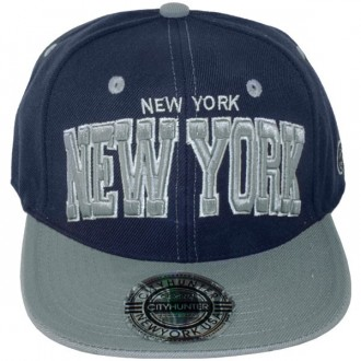 Casquette Snapback City Hunter - New York - Bleu Marine / Gris