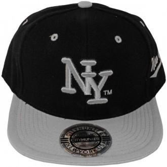 Casquette Snapback City Hunter - NY - Noir / Gris