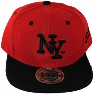 Casquette Snapback City Hunter - NY - Rouge / Noir
