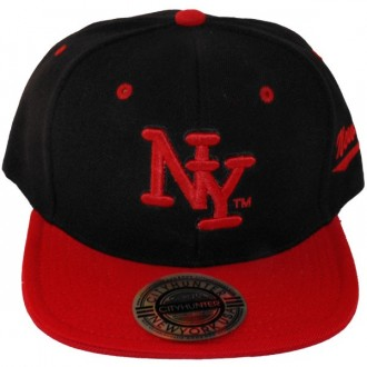 Casquette Snapback City Hunter - NY - Noir / Rouge