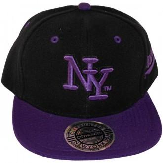 Casquette Snapback City Hunter - NY - Noir / Violet