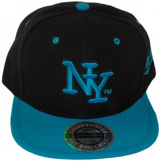 Casquette Snapback City Hunter - NY - Noir / Turquoise