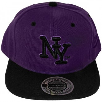 Casquette Snapback City Hunter - NY - Violet / Noir