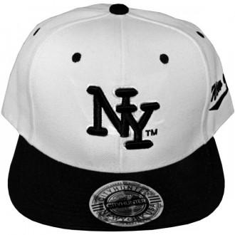 Casquette Snapback City Hunter - NY - Blanc / Noir