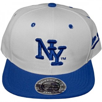 Casquette Snapback City Hunter - NY - Blanc / Bleu Royal