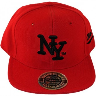 Casquette Snapback City Hunter - NY - Rouge