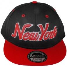 Casquette Snapback KB Ethos - New York - Noir / Rouge / Vert