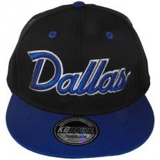Casquette Snapback KB Ethos - Dallas - Noir / Bleu / Vert