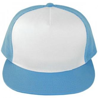 Casquette Filet Yupoong - Bleu ciel / Front blanc