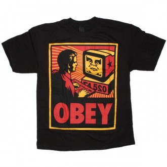 OBEY Basic T-Shirt - Black Obey Your Computer