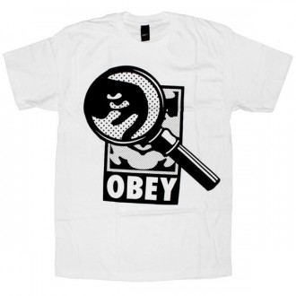 OBEY Basic T-Shirt - White Magnified