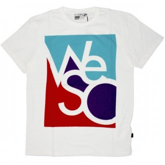 WESC T-shirt - White Wesc Interlock