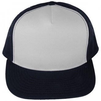Casquette Filet Yupoong - Bleu marine / Front blanc