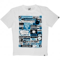 Scratch Science T-shirt - Blue Phases - White